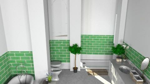 Moss Green - Classic - Bathroom  - by aspi2774