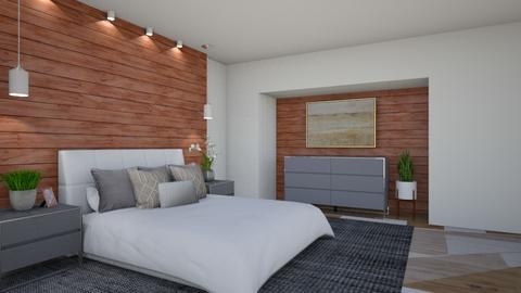 Modern Bedroom - by KierraClumdesign