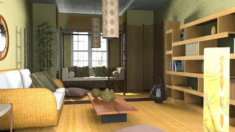 bamboo  live - Rustic - Living room  - by chania