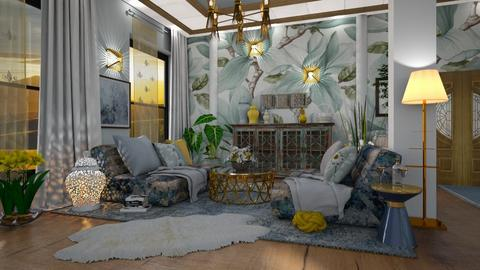 boho_living_contest - Living room  - by ZsuzsannaCs