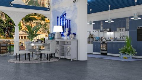 Modern Greek KD - Kitchen  - by nat mi