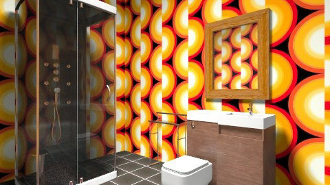 Totally Retro   - Retro - Bathroom - by Littlemisweetnes