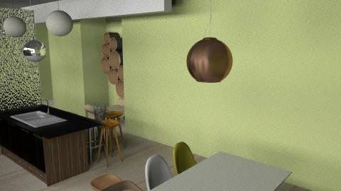 eco kitchenq - Retro - Kitchen  - by bfunk20