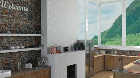 CountryKitchen (View1) - Country - Kitchen  - by camilla_saurus