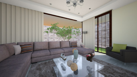 Asian - Living room - by Luana  Oliveira