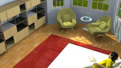 midcentury bedroom2 - Retro - Bedroom  - by marcychapman