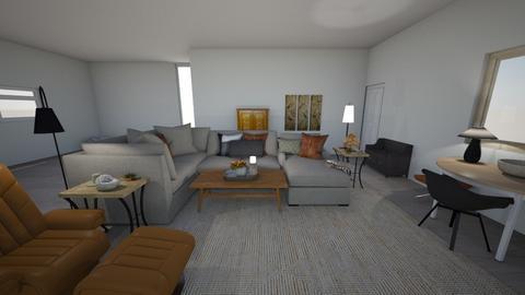 Great Room Veda Moretti - Retro - Living room  - by vedamoretti