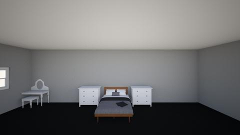bedroom of black and grey - Bedroom  - by lily_saint2008