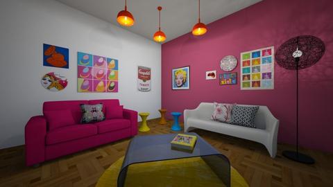 PopArtDesign - Living room  - by denarcb