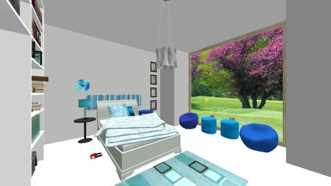 blue bedroom - Bedroom  - by CrisDan