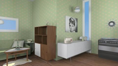 Retro Flat - Retro - Living room  - by JazzyAllen