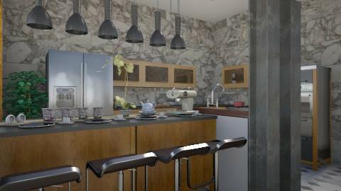 grey shades of kitchen - Minimal - Kitchen  - by herjantofarhan