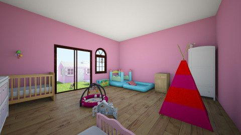 kid room and outside area - Modern - Kids room  - by Hailey L Huls