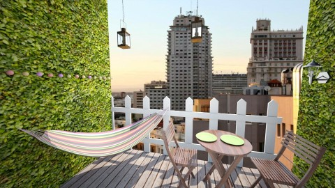 Small balcony - Rustic - Garden - by yaizalloriginal