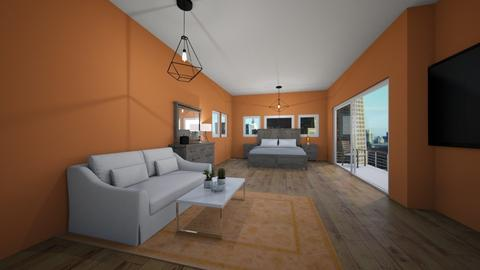 Orange Glow - Modern - Bedroom - by stella2