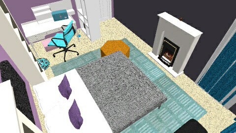 K buser teen room - Glamour - Kids room - by Qloveshappychic