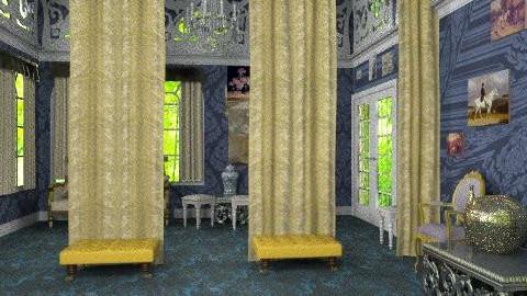 blue room - Glamour - Living room  - by janetski2