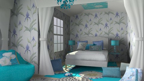 blue romantic - Vintage - Bedroom  - by chania