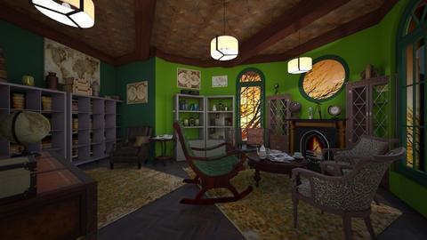 reading room - Vintage - Living room  - by kla