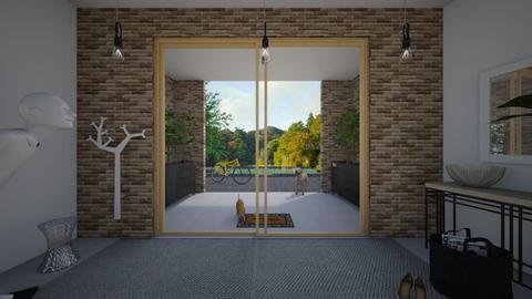 Zen_entry door2 - Garden  - by lovasemoke