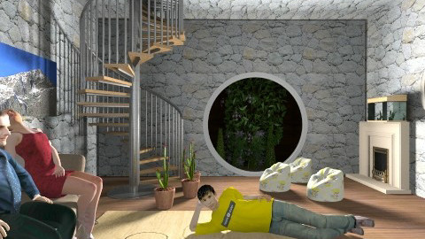 Modern Hobbits - Modern - Living room - by sherbetlollipop
