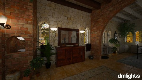 Tuscan bedroom - Country - Bedroom  - by DMLights-user-1468788