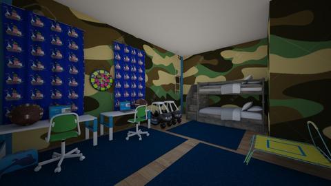 Twins Bedroom - Kids room - by isobelminecraft1234