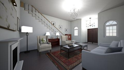 Row Living - Classic - Living room  - by marymbarbee