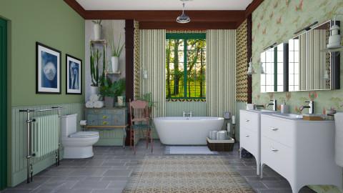 Virtual_Country_Bath - Bathroom  - by janip