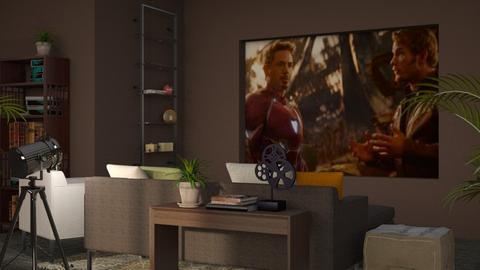 Movie Night - Modern - Living room  - by millerfam