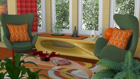 Waves - Retro - Living room  - by Theadora