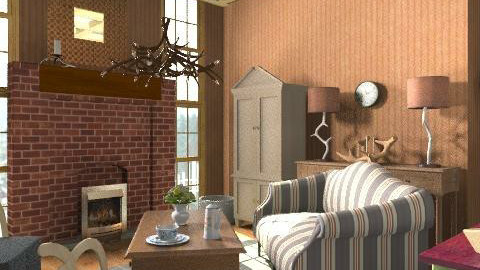 Hunting Lodge - Country - Living room  - by natural11