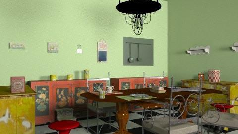 Grandma's  kitchen - Retro - Kitchen  - by kooskrisztina