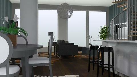 modern flat - Modern - Kitchen  - by yasemin04