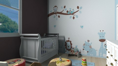 jungle nursery - Classic - Kids room  - by Mickey2109