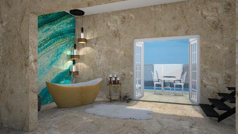 TURQOISE AND METAL BATH - Bathroom - by Anaisxxxxxxx
