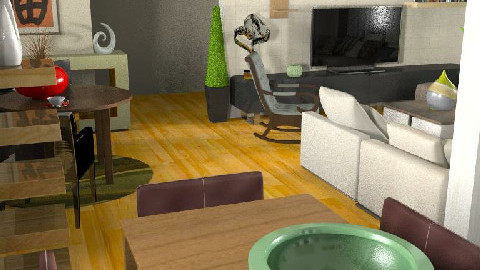 MB living/dining room 003 2 - Dining Room  - by imnium
