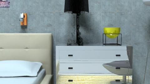 Minimal glamour bedroom hotel - Minimal - Bedroom  - by Jennifer Vargas