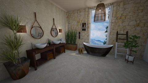 wood - Bathroom  - by avivalouf272