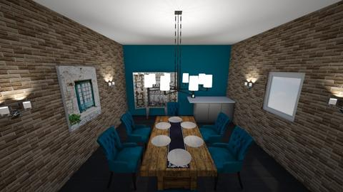 Turquoise Dinning Room - Country - by riordan simpson