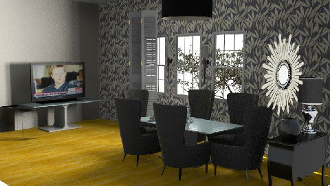 BLACK IS BACK - Dining Room  - by tarnjotsingh