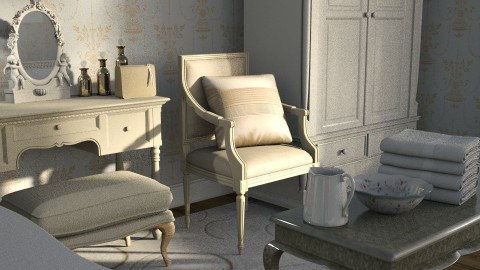 cream - Classic - Bedroom  - by anchajaya