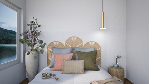 Rattan Bedhead - Minimal - Bedroom  - by SunflowerStudios