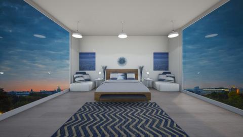 blue simplicity - Modern - Bedroom  - by NEVERQUITDESIGNIT