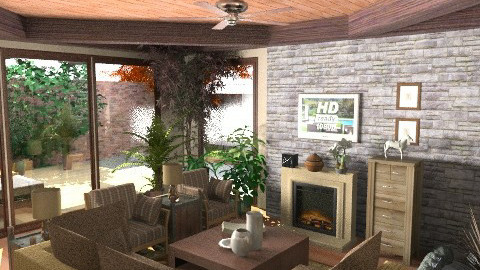 Provincial - Country - Living room  - by KittiFarkas