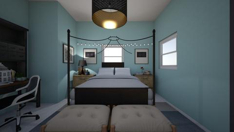 Teen room entry - Rustic - Bedroom  - by Jojo Bear