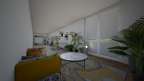 Jungle garden hallway - Modern - Garden  - by wolfiewolf123