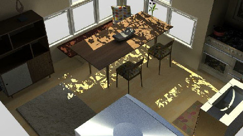 Kitchen and Dining Space XYZ - Dining Room  - by locus6
