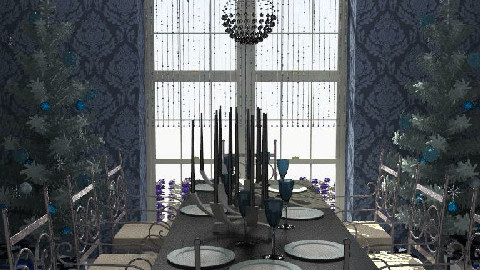 Blue Christmas - Dining Room - by ellis1711