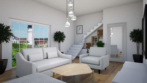 white living room - Country - Living room  - by steker2344